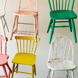Come rinnovare sedie in legno. Idee e colori