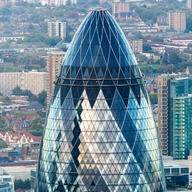 The Gherkin: Foster+Partners per il grattacielo al 30 St Mary Axe Londra