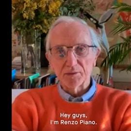 Il video messaggio di Renzo Piano agli architetti in isolamento